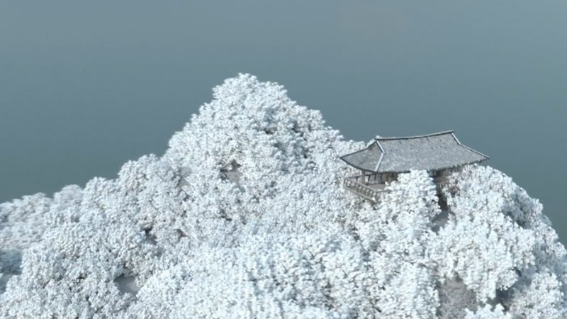 Blender Winter landscape Gazebo