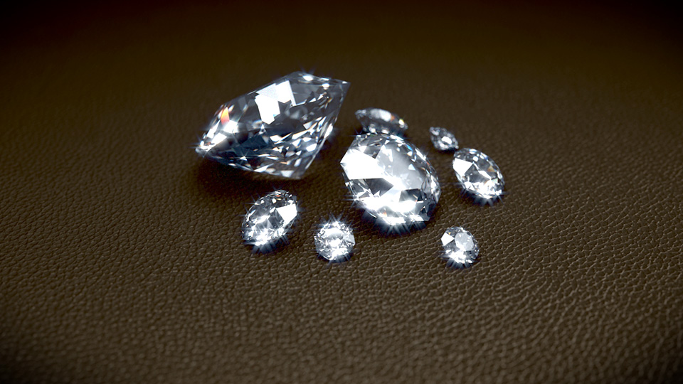 Blender diamonds