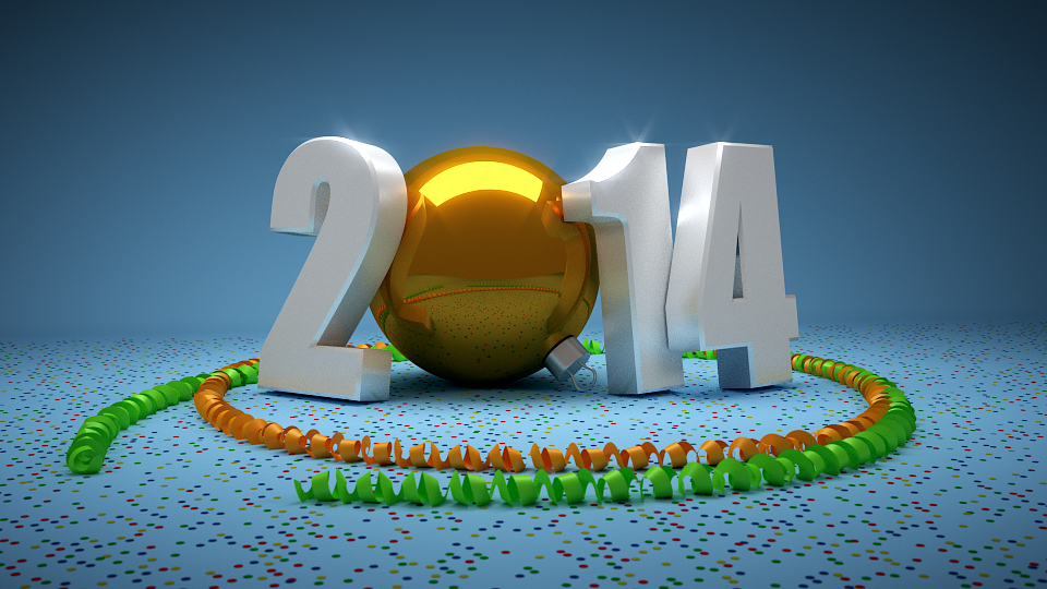 Blender Happy New Year Card