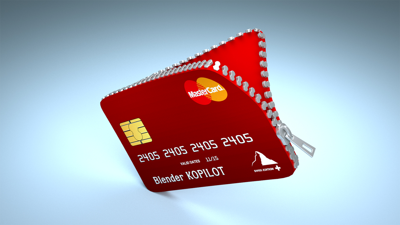 Blender zippered Credit Card