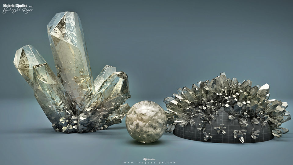 Blender Cycle Crystal Ivaylo Gogov 01