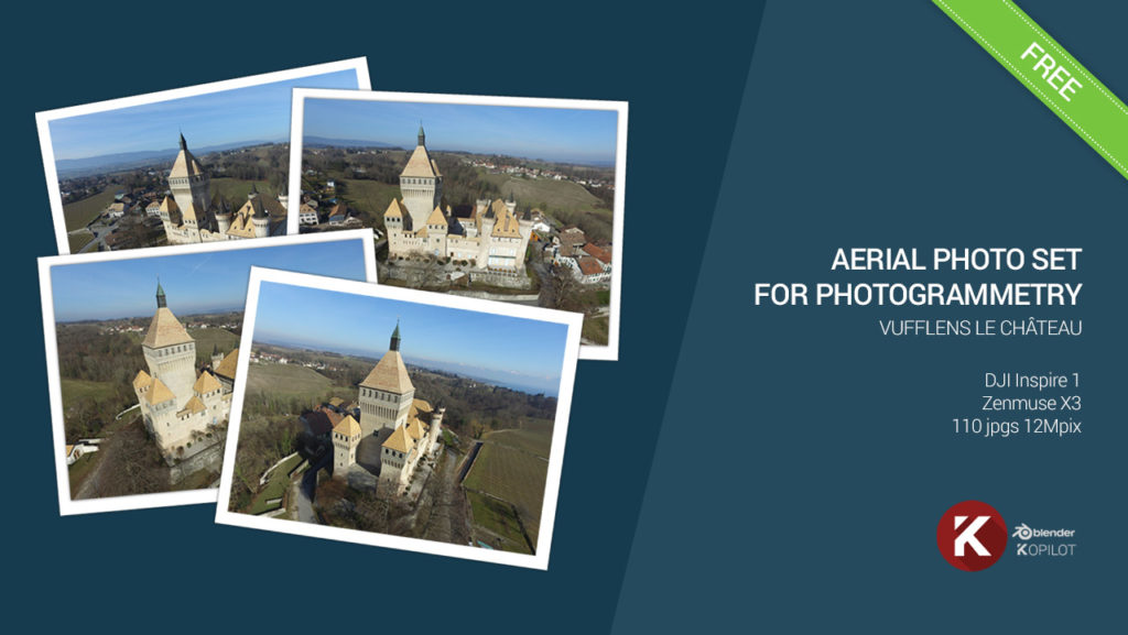 aerial photogrammetry free photo set vufflens Castle