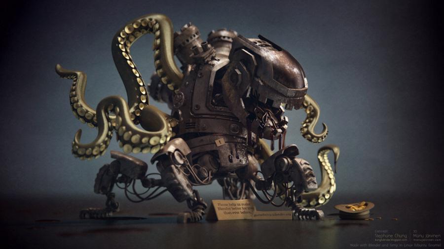 Octopus robot alien